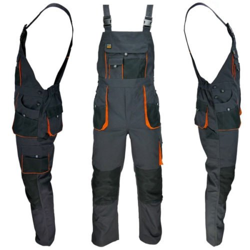 Work Bib and Brace Overalls, multipockets